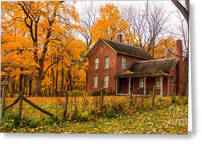 Indiana Autumn Greeting Cards - Chellberg Farm Greeting Card by Lynne Dohner