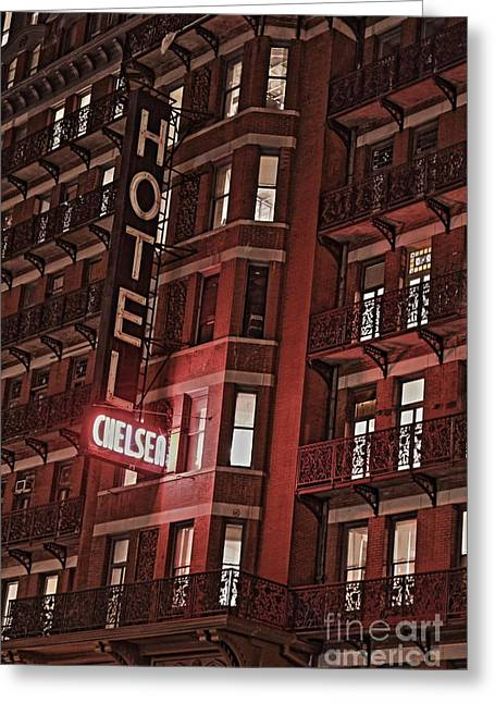 Chelsea Greeting Cards - Chelsea Hotel Greeting Card by David Rucker