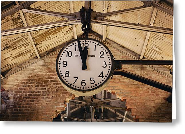 Chelsea Greeting Cards - Chelsea Market Clock Greeting Card by Kim Fearheiley