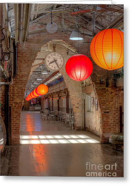Chinese Lanterns Greeting Cards - Chelsea Market I Greeting Card by Clarence Holmes