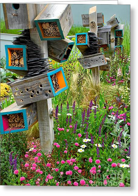 Mike Nellums Greeting Cards - Chelsea Outdoor Garden Art 2 Greeting Card by Mike Nellums