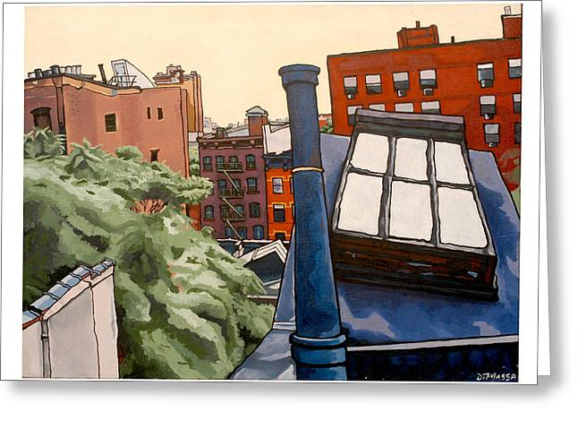 Chelsea Greeting Cards - Chelsea Rooftop Greeting Card by Diane DiMassa