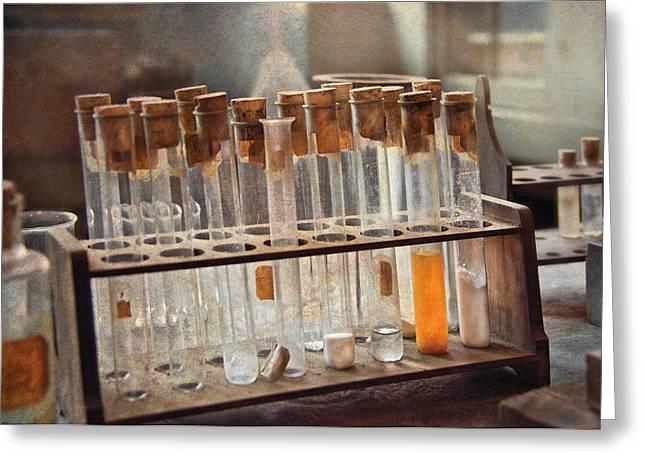 Chemist - Specimen Greeting Card by Mike Savad