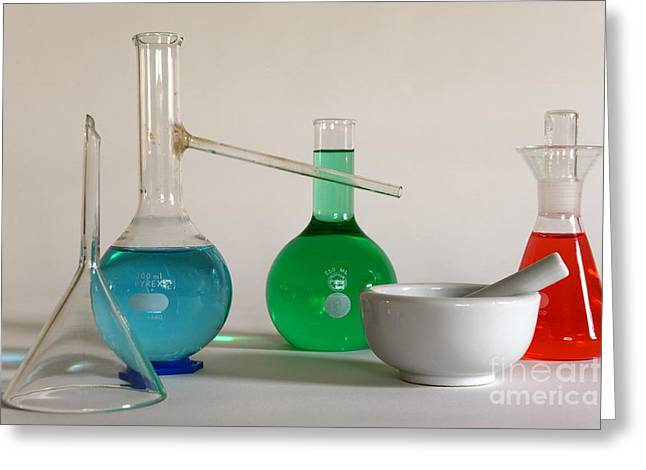 Chem Greeting Cards - Chemistry Class Greeting Card by Paul Ward