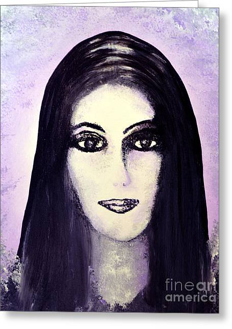 Cher Greeting Card by Alys Caviness-Gober