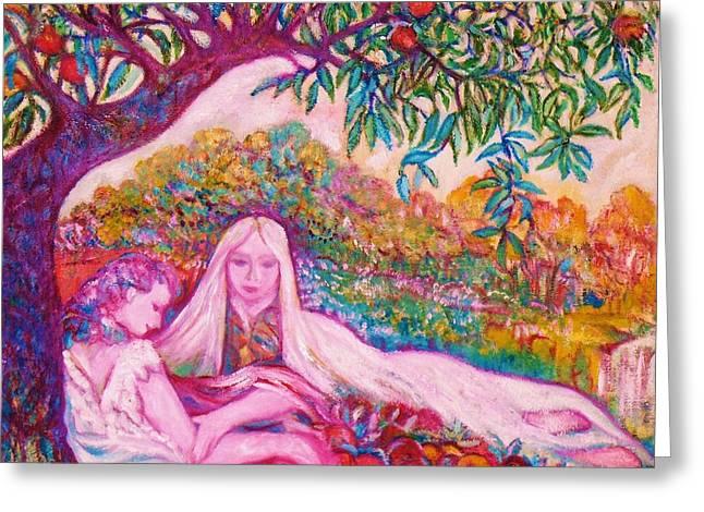 Gay Art Framed Giclee On Canvas Greeting Cards - Cher chez la Femme - ART DECO Greeting Card by Gunter  Hortz