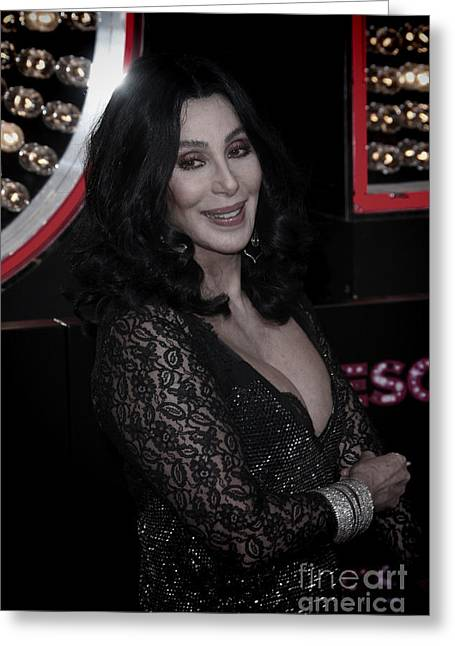 Nina Prommer Greeting Cards - Cher Greeting Card by Nina Prommer