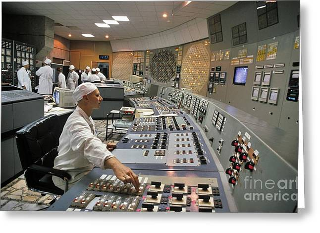 Meltdown Greeting Cards - Chernobyl Reactor 3 Control Room Greeting Card by Patrick Landmann