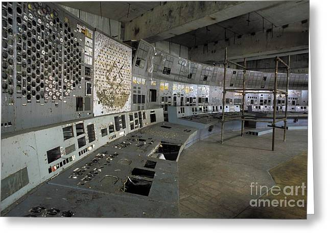 Meltdown Greeting Cards - Chernobyl Reactor 4 Control Room Greeting Card by Patrick Landmann