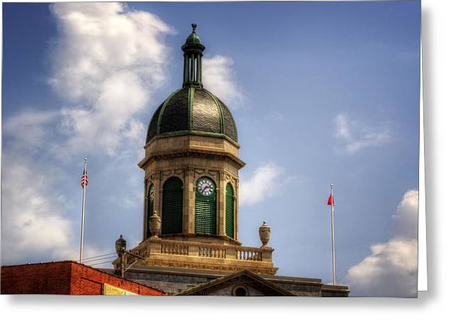 Cupola Greeting Cards - Cherokee County NC Courthouse Cupola Greeting Card by Greg Mimbs