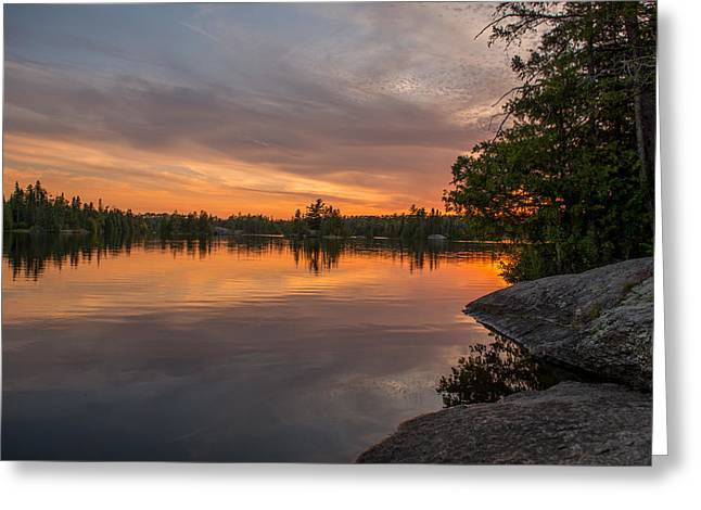 Boundary Waters Greeting Cards - Cherokee Lake Sunset  Greeting Card by Shane Mossman