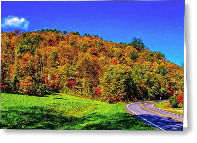 Tennessee Landmark Greeting Cards - Cherola Skyway Representation Greeting Card by John Bailey
