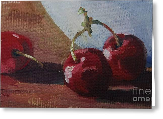 Cherry Art Greeting Cards - Cherries 2 Greeting Card by John Clark