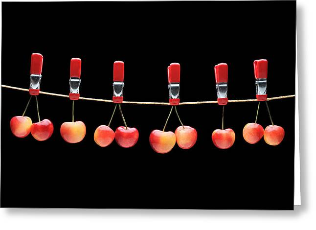 Krasimir Tolev Photography Greeting Cards - Cherries Greeting Card by Krasimir Tolev