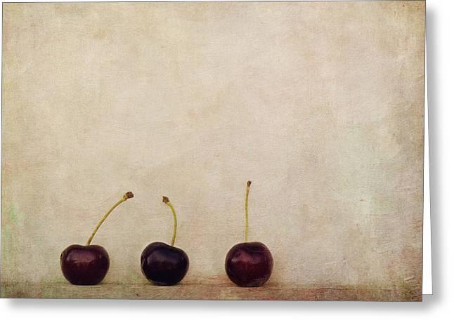 Actual Greeting Cards - Cherries Greeting Card by Priska Wettstein