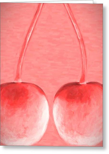 Cherries  Greeting Card by Toppart Sweden