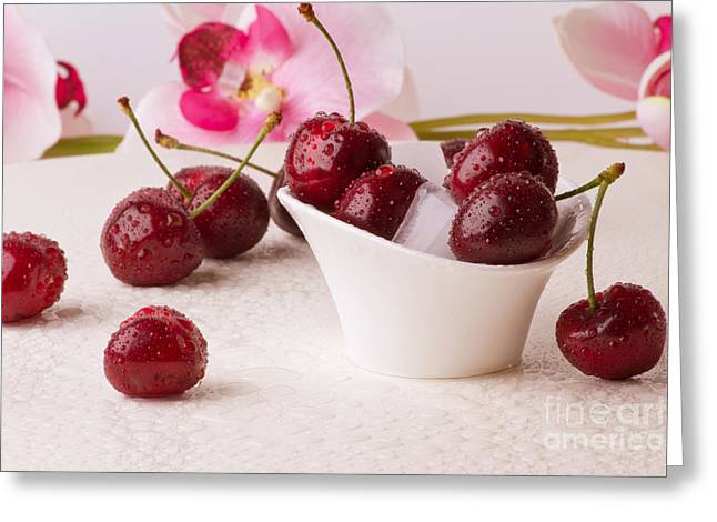 Essen Greeting Cards - Cherries2 Greeting Card by Christine Sponchia