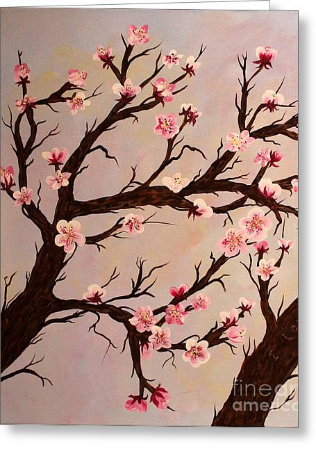 Cherry Blossom 1 Greeting Card by Barbara Griffin