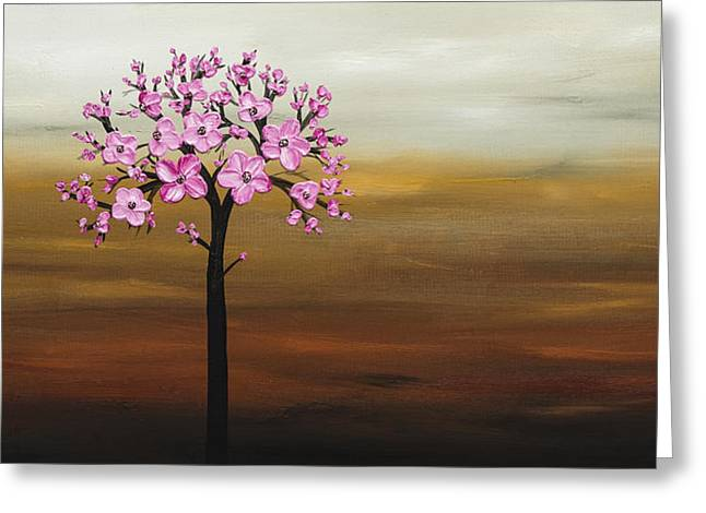 Cherry Blossoms Paintings Greeting Cards - Cherry Blossom Greeting Card by Carmen Guedez