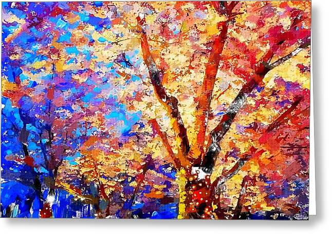 Cherry Blossoms Paintings Greeting Cards - Cherry Blossom Greeting Card by Chris Butler
