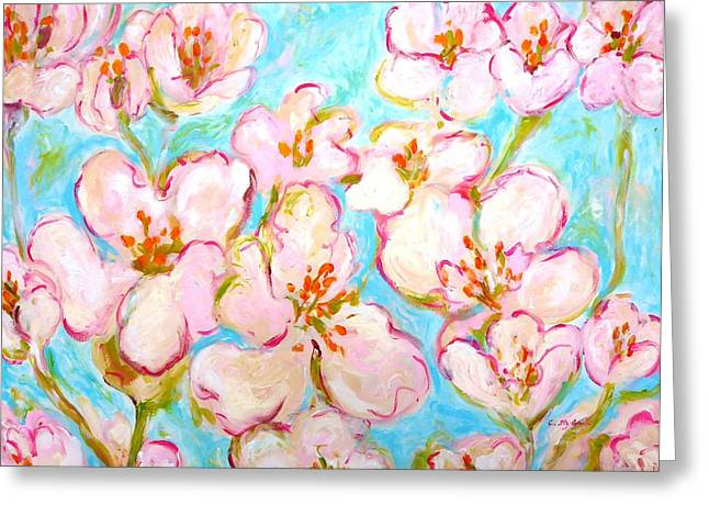 Feminity Greeting Cards - Cherry Blossom Greeting Card by Cristina Stefan