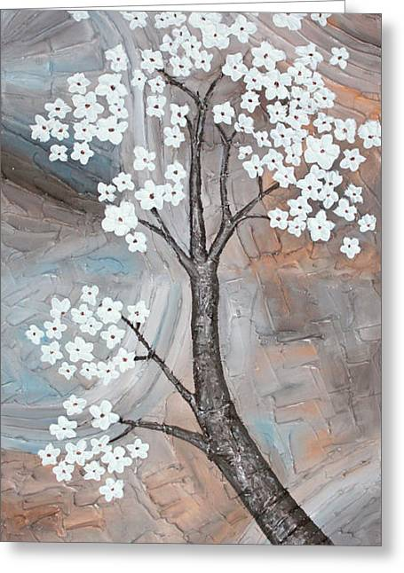 Cherry Blossom Greeting Card by Home Art