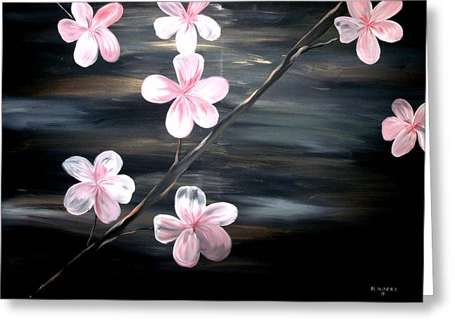 3d Artist Greeting Cards - Cherry Blossom  Greeting Card by Mark Moore