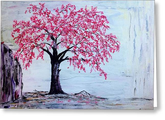 Cherry Blossom  Greeting Card by Renate Voigt