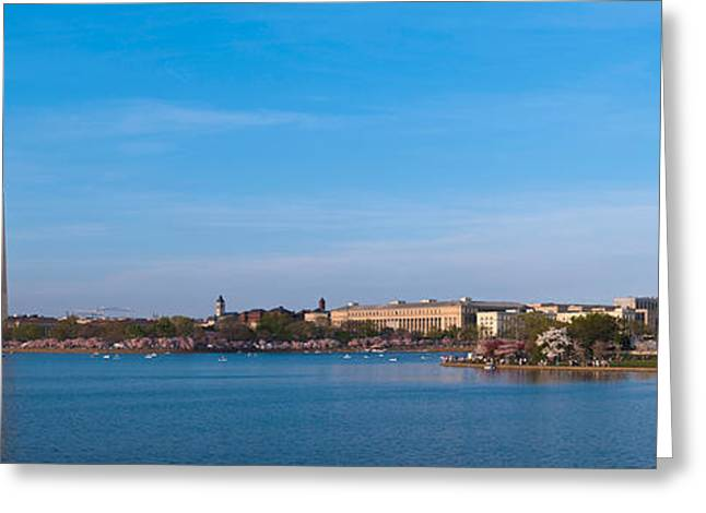 National Mall Greeting Cards - Cherry Blossoms At The Tidal Basin Greeting Card by Panoramic Images