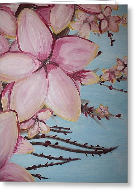 Cherry Blossoms Paintings Greeting Cards - Cherry Blossoms Greeting Card by Catherine Jordan
