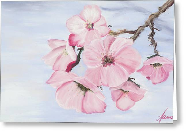 Washington D.c. Pastels Greeting Cards - Cherry Blossoms Greeting Card by Dana Strotheide