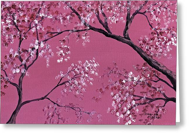 Pink Blossoms Greeting Cards - Cherry Blossoms  Greeting Card by Darice Machel McGuire