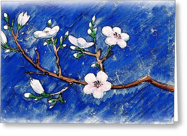 Cherry Blossoms Greeting Card by Irina Sztukowski