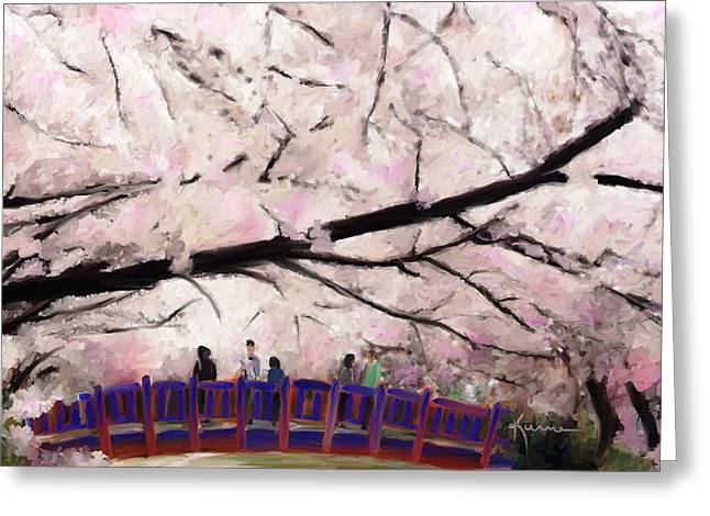 Cherry Blossoms Greeting Card by Kume Bryant