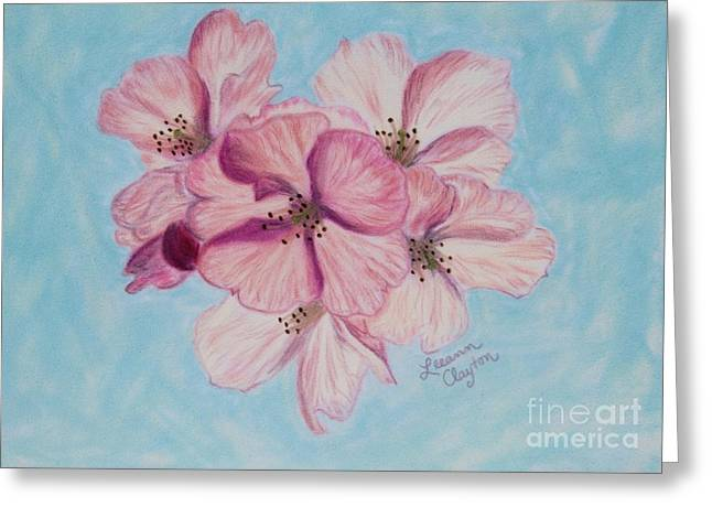 Washington D.c. Pastels Greeting Cards - Cherry Blossoms Greeting Card by Leeann Clayton