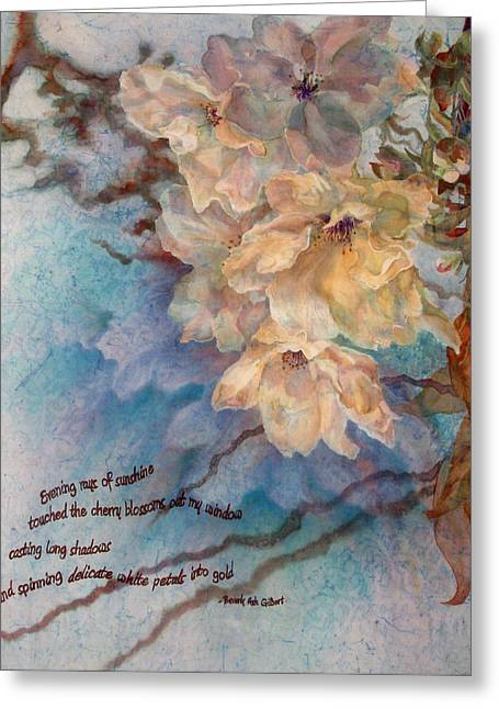 Cherry Blossoms Paintings Greeting Cards - Cherry Blossoms n Lace Greeting Card by Deborah Younglao