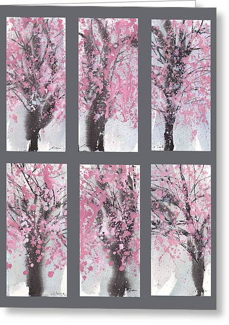 Millbury Greeting Cards - Cherry Blossoms Greeting Card by Sumiyo Toribe