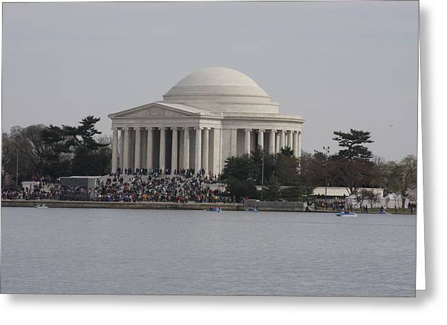 President Greeting Cards - Cherry Blossoms with Jefferson Memorial - Washington DC - 01133 Greeting Card by DC Photographer