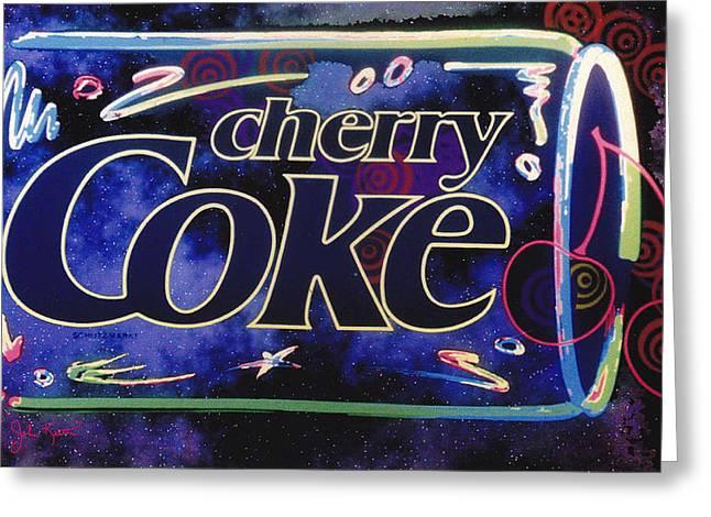 Cherry Coke 8 Greeting Card by John Keaton