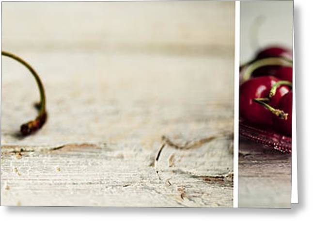 Panos Greeting Cards - Cherry Greeting Card by Nailia Schwarz