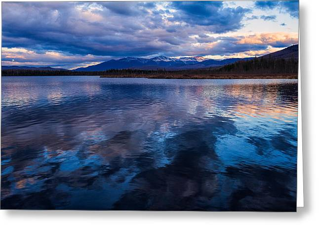 Wildlife Refuge. Greeting Cards - Cherry Pond Cloud Reflections Greeting Card by Jeff Sinon