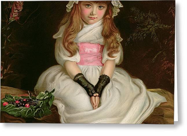 Cherry Ripe Greeting Card by Sir John Everett Millais