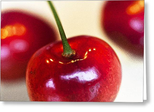 Cherry Still Life Greeting Card by Heiko Koehrer-Wagner