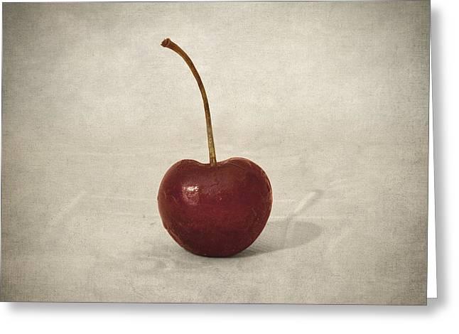 Cherry Greeting Card by Taylan Soyturk