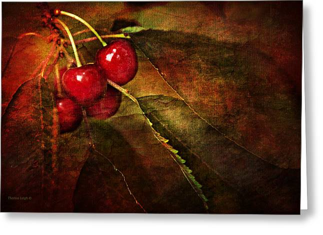 Canadian Photographer Greeting Cards - Cherry Time Greeting Card by Theresa Tahara