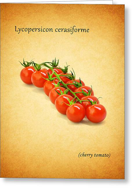 Recipes Greeting Cards - Cherry Tomato Greeting Card by Mark Rogan