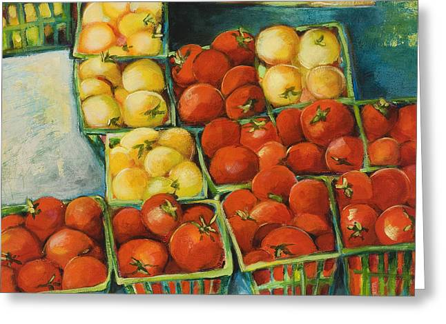 Cherry Tomatoes Greeting Card by Jen Norton