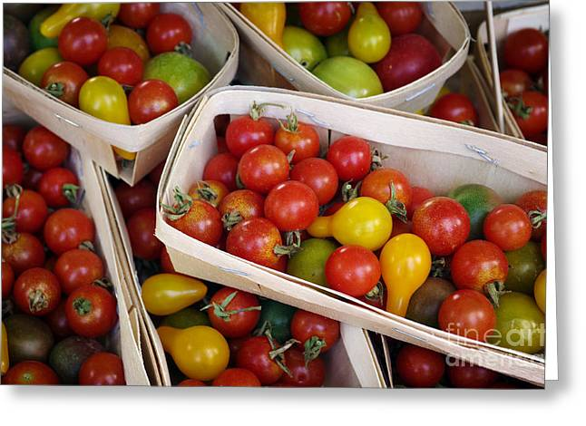Abundance Greeting Cards - Cherry Tomatos Greeting Card by Carlos Caetano