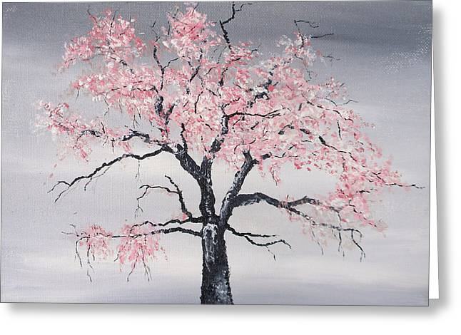 Recently Sold -  - Eerie Greeting Cards - Cherry Tree Greeting Card by Sabrina Zbasnik