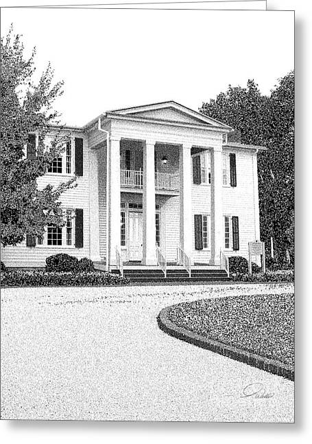 Historic Registry Mixed Media Greeting Cards - CHERRYDALE - Architectural Rendering - Detail Greeting Card by Andrew Wells